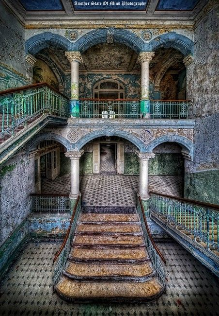 a collection from an amazing photographer who photographs old abandoned buildings. These images are beautiful in a unique an creepy way. These images allow us to explore the building without ever having to leave our own homes.