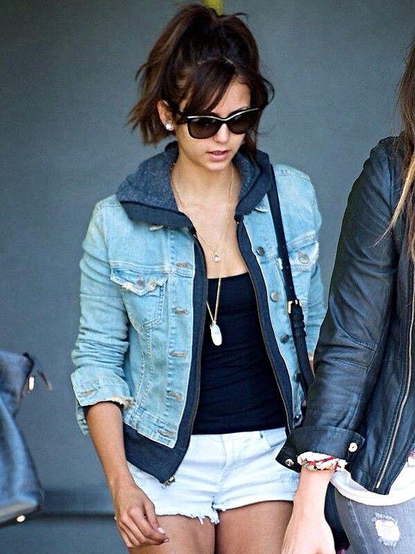 Image Result For Nina Dobrev Hd Wallpaper Nina Dobrev In Jeans Jacket Hd Wallpaper
