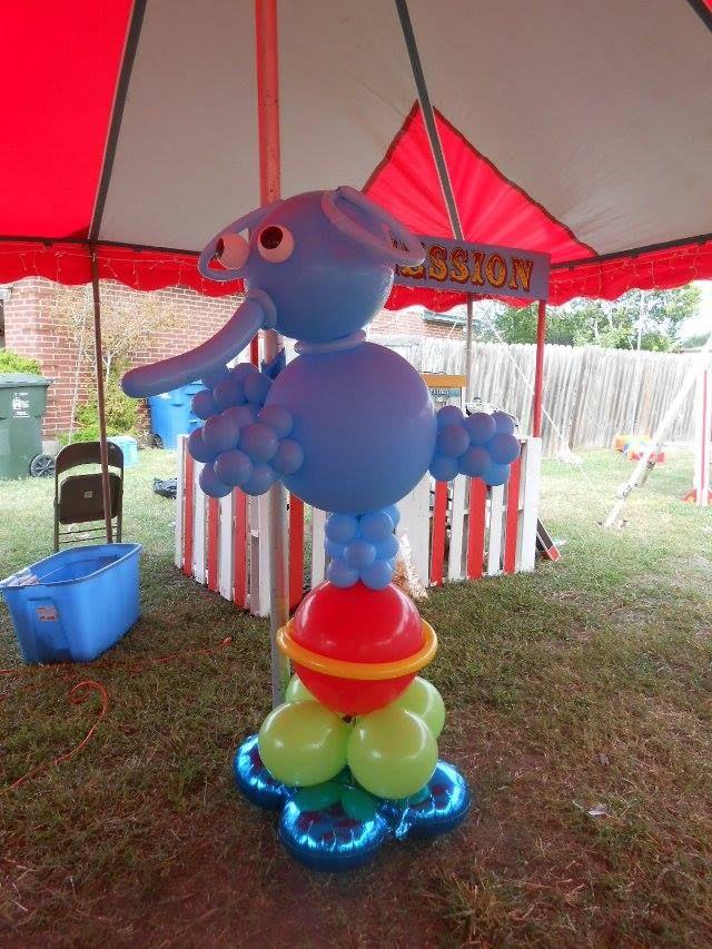 Circus elephant balloon bouquets pinterest elephants