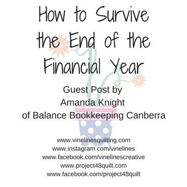 How to Survive the End of the Financial Year - guest post from Amanda Knight of Balance Bookkeeping