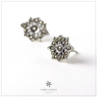 Marcasite Compass Earring