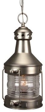 Exteriors Nautical Transitional Outdoor Hanging Light X-82-111Z - transitional - Ceiling Lighting - Arcadian Home & Lighting