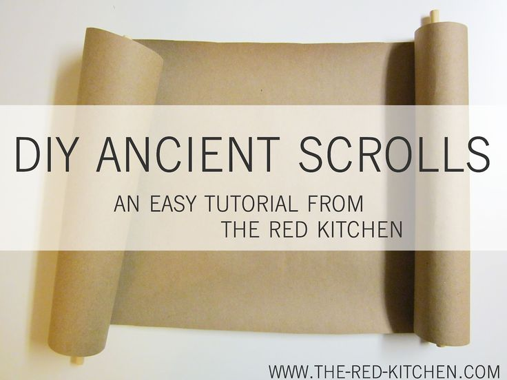 the red kitchen: DIY Ancient Scrolls Tutorial