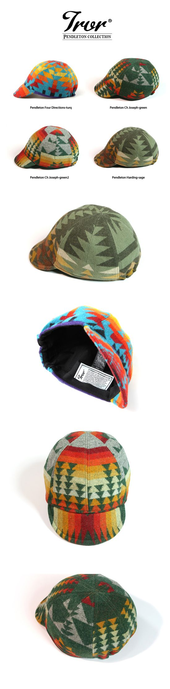 SERIOUSLY?! Pendleton cycling caps?!