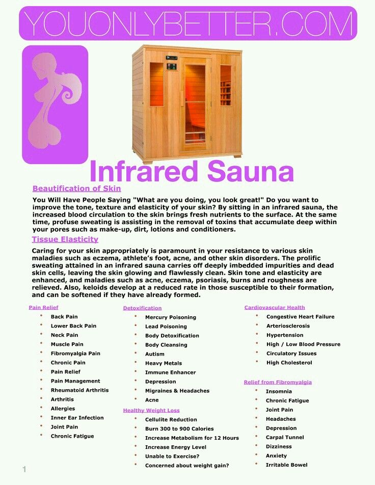 Pin by Cindy Wascow on exercise Infrared sauna benefits