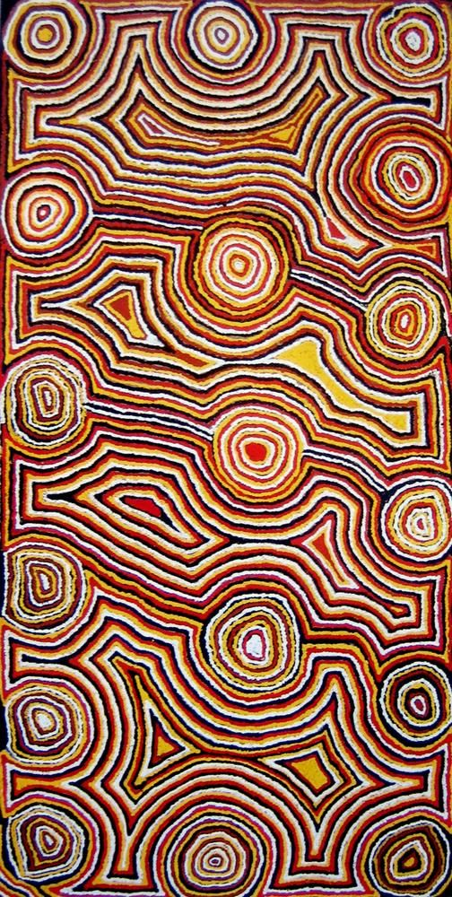 Mick Gill Tjakamarra ~ Water Dreaming at Lappilapi, 1991