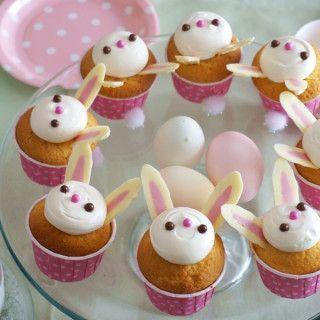 イースターに♡簡単かわいい*うさぎのカップケーキレシピ