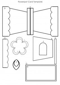Download this template to create the Flowerpot card