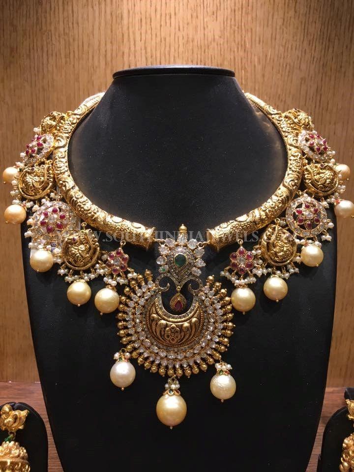 Gold+Nakshi+Kante+Necklace