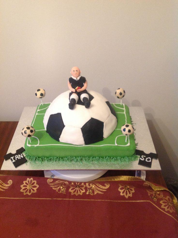 Refereefootball Cake Tortas Pinterest Football Birthday - Football cakes for birthdays