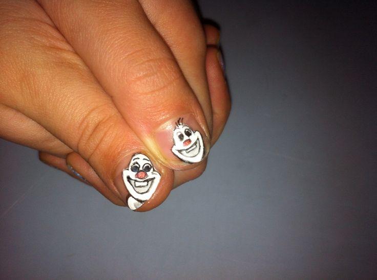 Olaf nail art⛄️