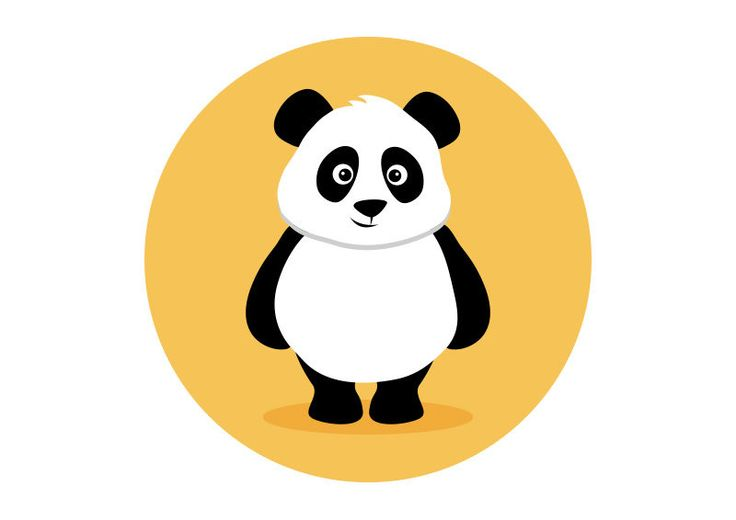 Panda Flat Vector Illustration
