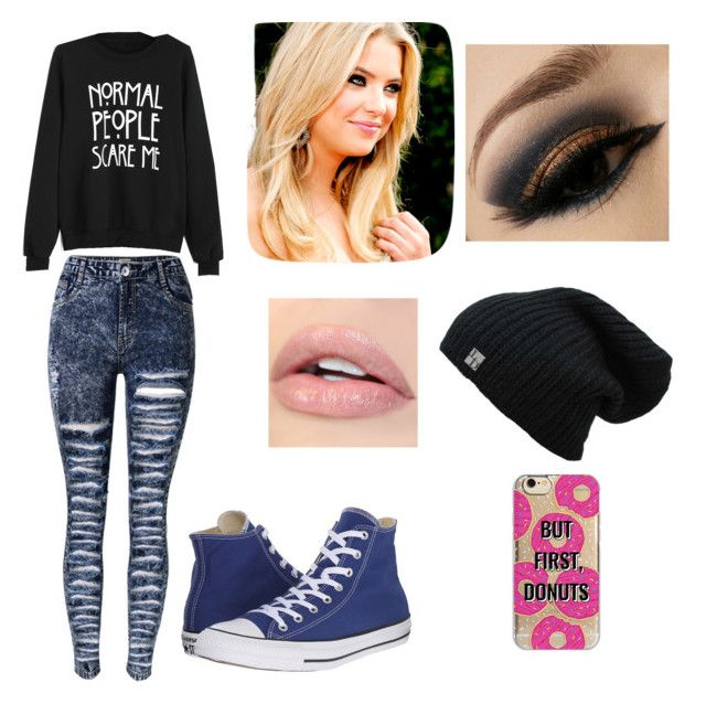 """""""Untitled #8"""" by julle-fangirl on Polyvore featuring Converse and Agent 18"""