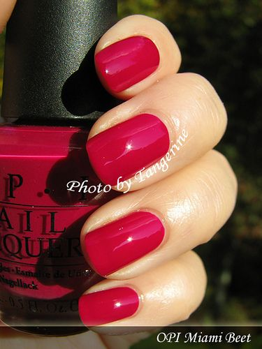 OPI- Miami Beet. great nail polish color!  I'd love it on my toes :)