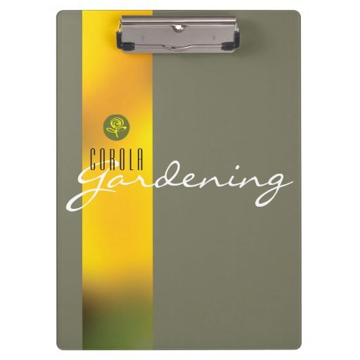 Clipboard with yellow tulips Customize and order these products on zazzle.com/toniana*