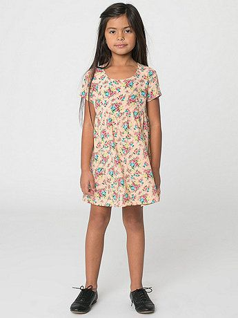 American Apparel - Kids Printed Rayon Challis Babydoll Dress
