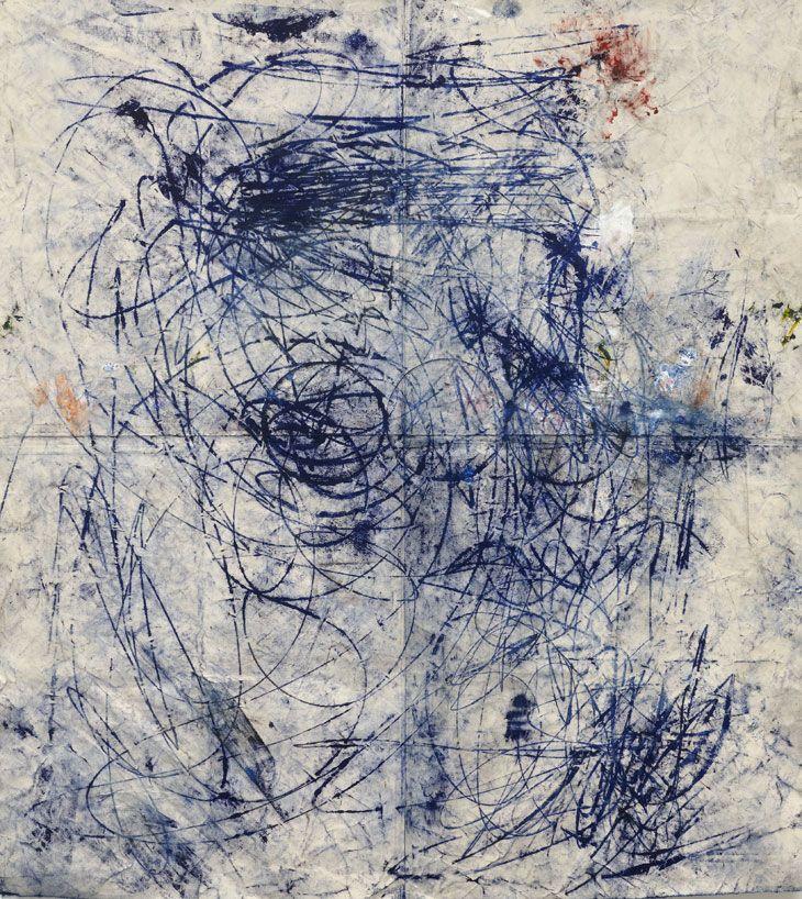 Oscar Murillo Untitled 2011 Oil, oil stick, graphite, dirt on canvas 170 x 190 cm