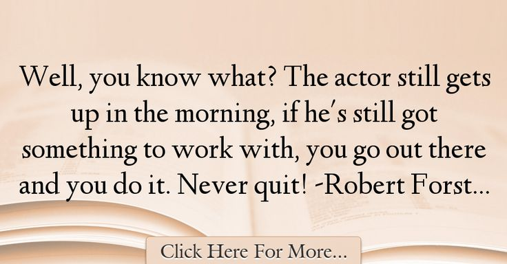 Robert Forster Quotes About Morning - 48902