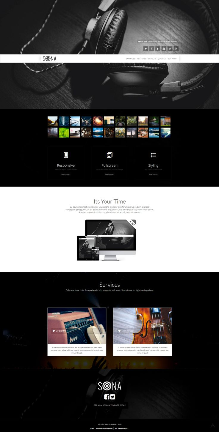 A fullscreen header responsive Joomla template design. Check it out at https://www.joomlage.com/blog/joomla-template-coupons-november-2016