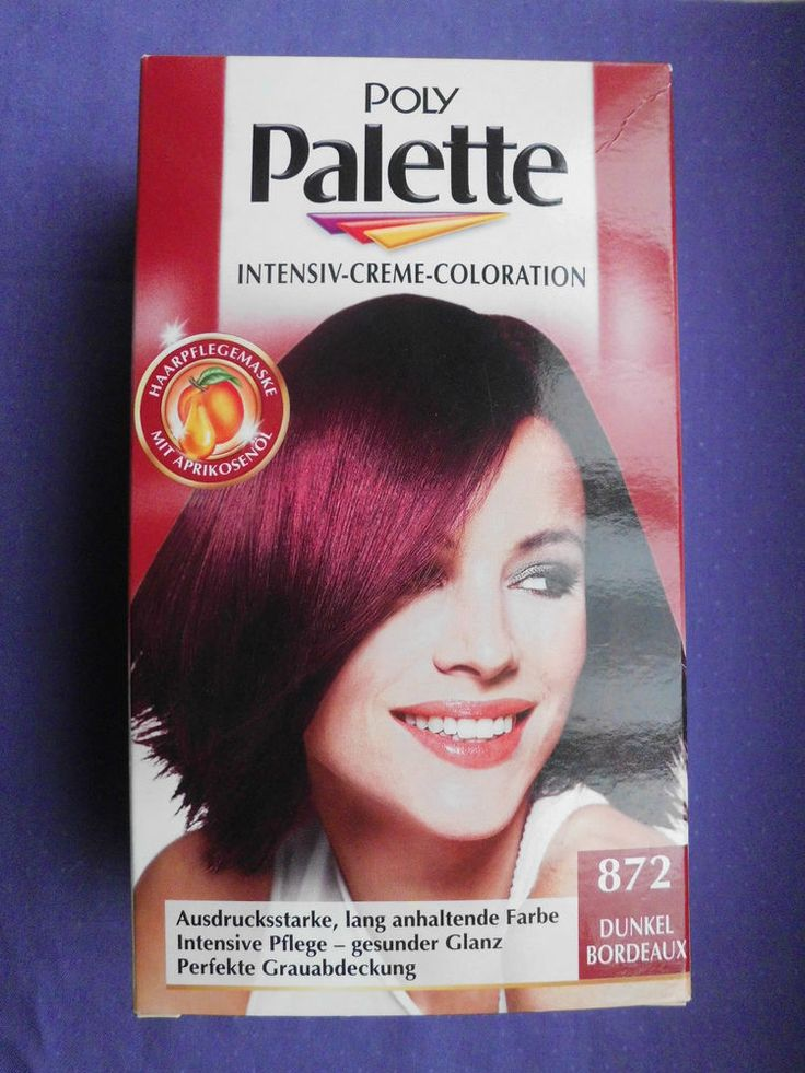 schwarzkopf poly palette 872 dunkel bordeaux coloration creme haarfarbe rot - Coloration Shwarskoff