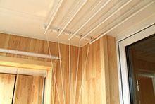 Обшивка балкона деревянной вагонкой сосна