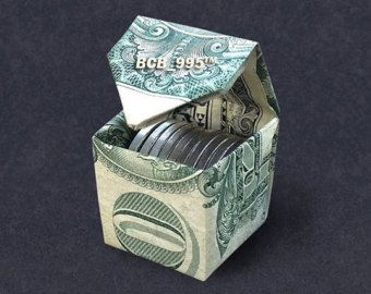 CUBIC MONEY BOX Dollar Origami - Dollar Bill Art