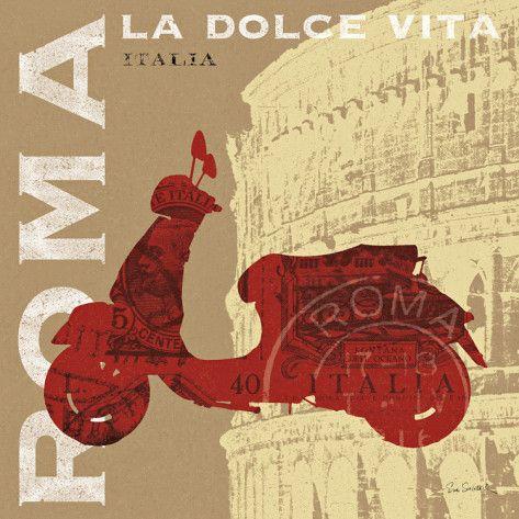 Motoring in Rome Art Print