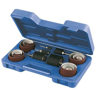 Screwfix Rubber Drum Sanding Kit 25Pcs 19906 Ideal for sanding large curved areas. For use with power drills. http://www.MightGet.com/january-2017-13/screwfix-rubber-drum-sanding-kit-25pcs-19906.asp