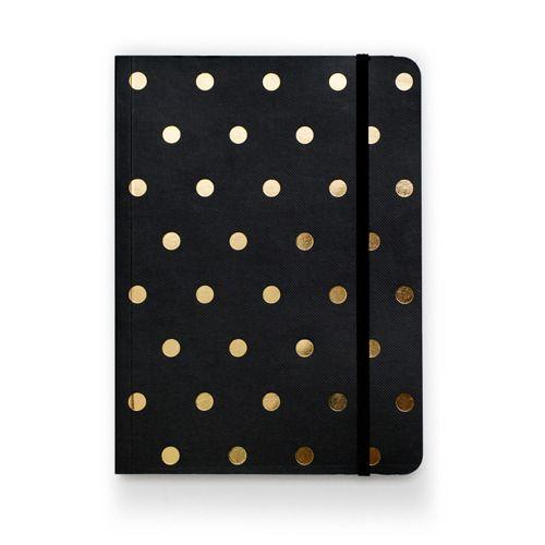 Black Polka Dot Notebook | Sugar Paper