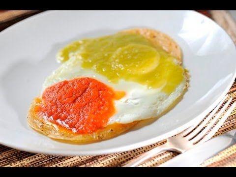 Huevos divorciados - Recetas de cocina mexicana faciles y economicas - Recetas de desayunos - YouTube