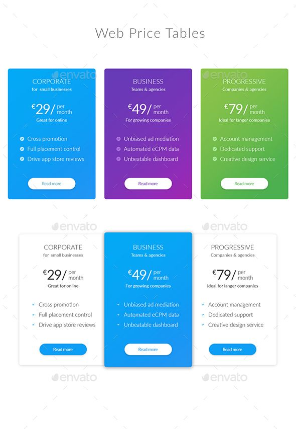 139 best Pricing Tables Templates images on Pinterest Pricing - price chart templates