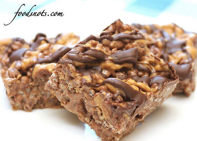 Reeses Chocolate Peanut Butter Rice Krispie Treats