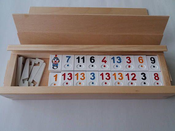 Nuovo grande rummikub Ramino in viaggio strategia memoria familiare piastrella gioco da tavolo regalo handmade massiv faggio scatola in legno per bambini per uomo donna bambino