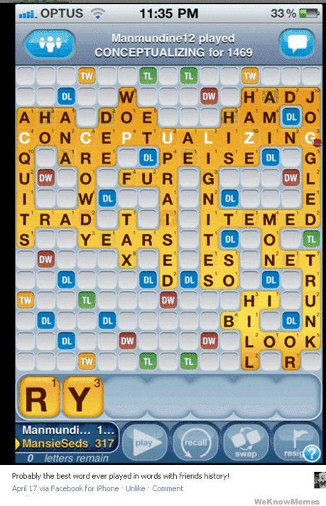 Highest Scoring Words With Friends Move Words with