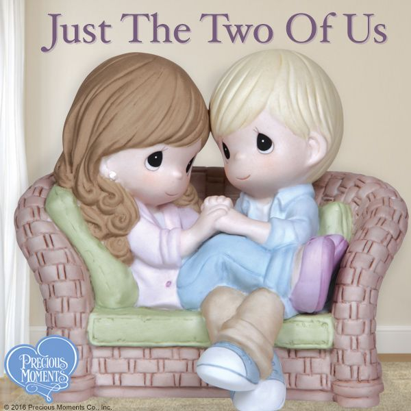 These little darlings make plenty of space for each other wherever they go. Sit down and relax with the one you love soon!  #PreciousMoments #LifesPreciousMoments #Love #JustTheTwoOfUs #CouplesInLove