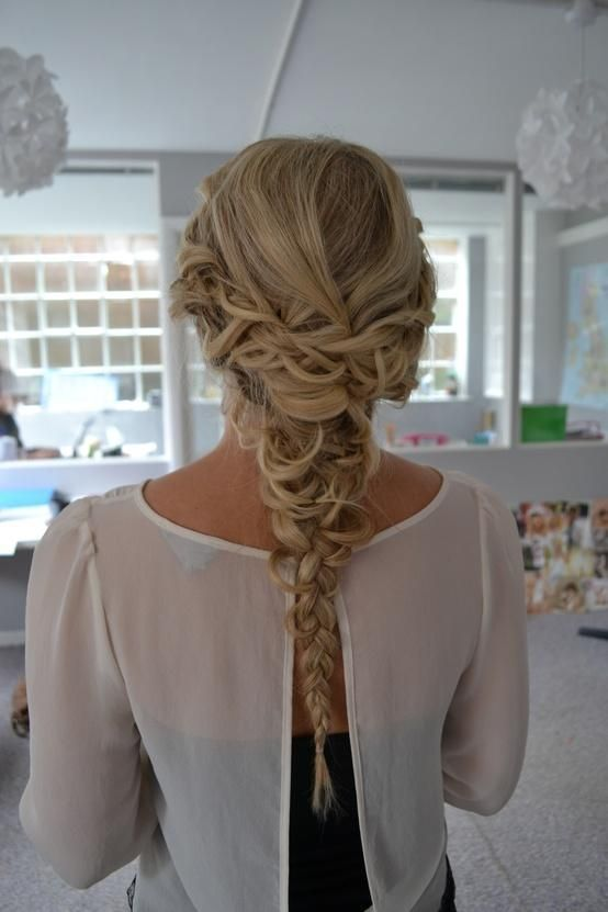 Stupendous 1000 Ideas About Braided Homecoming Hairstyles On Pinterest Hairstyle Inspiration Daily Dogsangcom