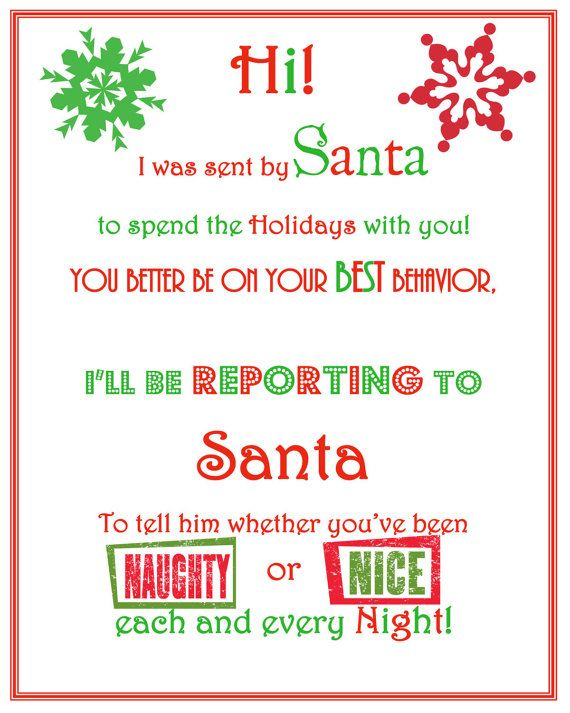 letter from your elf on the shelf free printable christmas yey