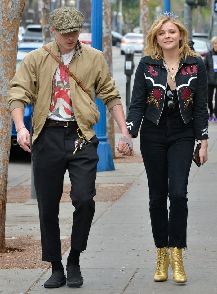 c2e771fbc9fce9 Chloë Grace Moretz celebrates her 21st birthday with Brooklyn Beckham in  West Hollywood