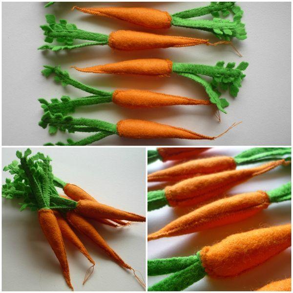 carottes avec fanes / dînette en feutrine # ma petite bohème