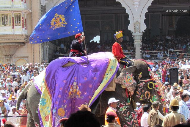 we're in the royal city of Mysore in South India