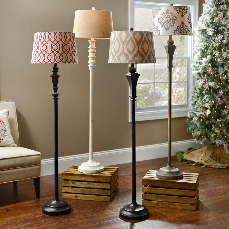 Floor lamp print fabric lampshades for elegant home decor via kirklands