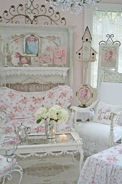 Like the powder blue but only with the peeks of white. Actually have the bedspread!