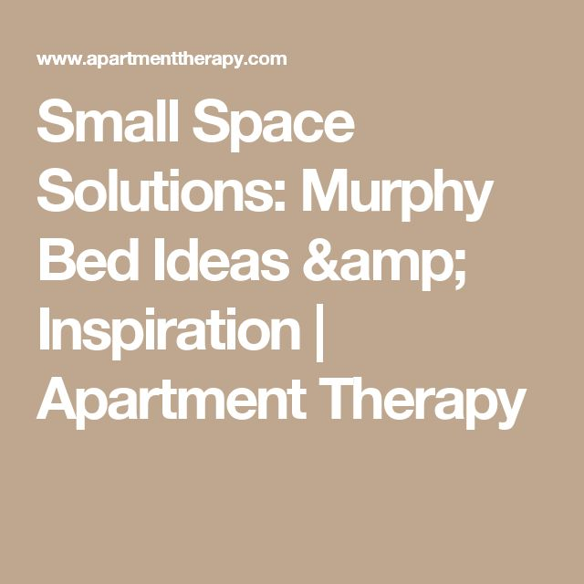 Small Space Solutions: Murphy Bed Ideas & Inspiration | Apartment Therapy