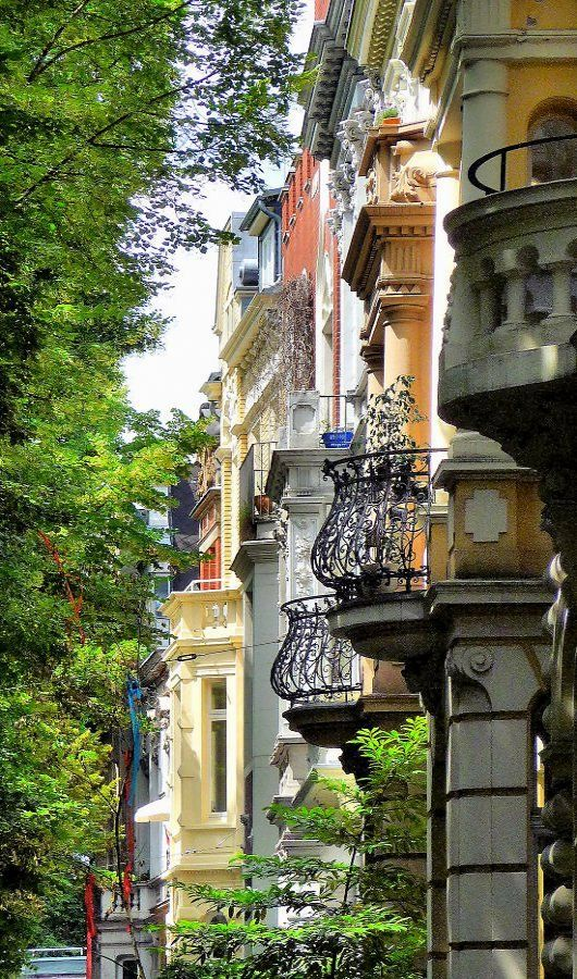 ...In a quiet street with beautiful facades - Bonn, Germany