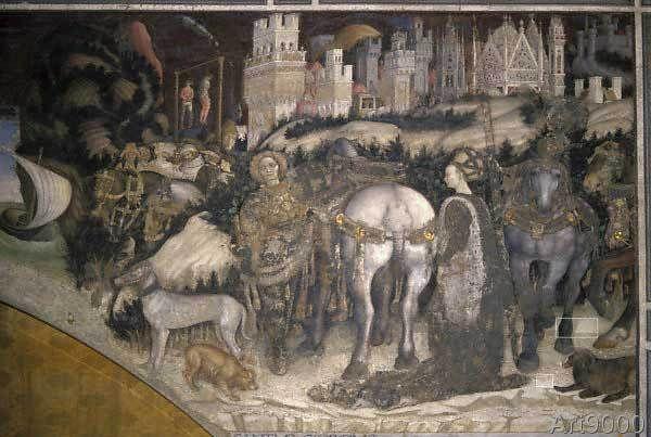 Pisanello - Der Heilige Georg befreit die libysche Prinzessin