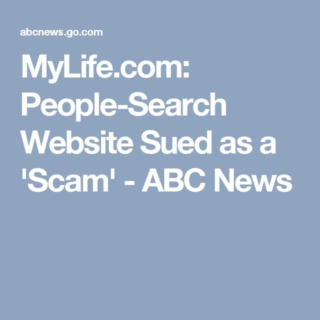 MyLife.com: People-Search Website Sued as a 'Scam' - ABC News