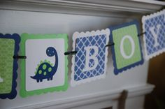 Its A Boy Banner Baby Shower Banner Dinosaur Baby by GiggleBees, $16.00 @Stacey McKendry