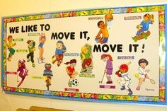 pe bulletin board ideas
