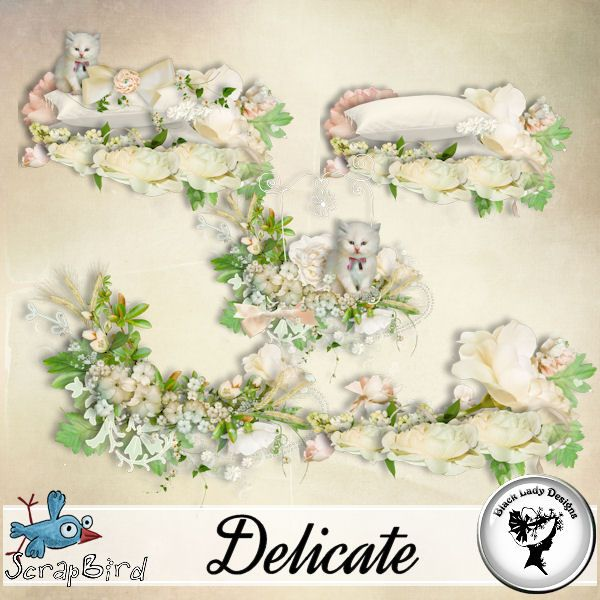 Delicate - embellishments by Black Lady Designs