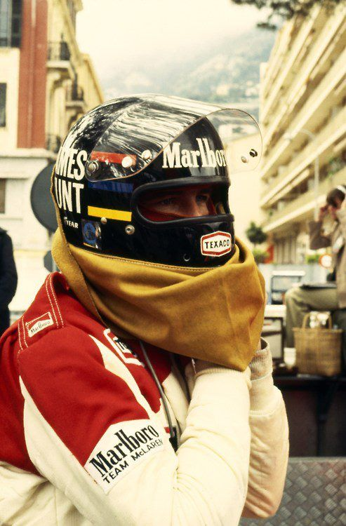 James Hunt McLaren - Ford Monaco 1978....the man who throws op in his helmet before the start...and drove the entire race with his puke in his nose...